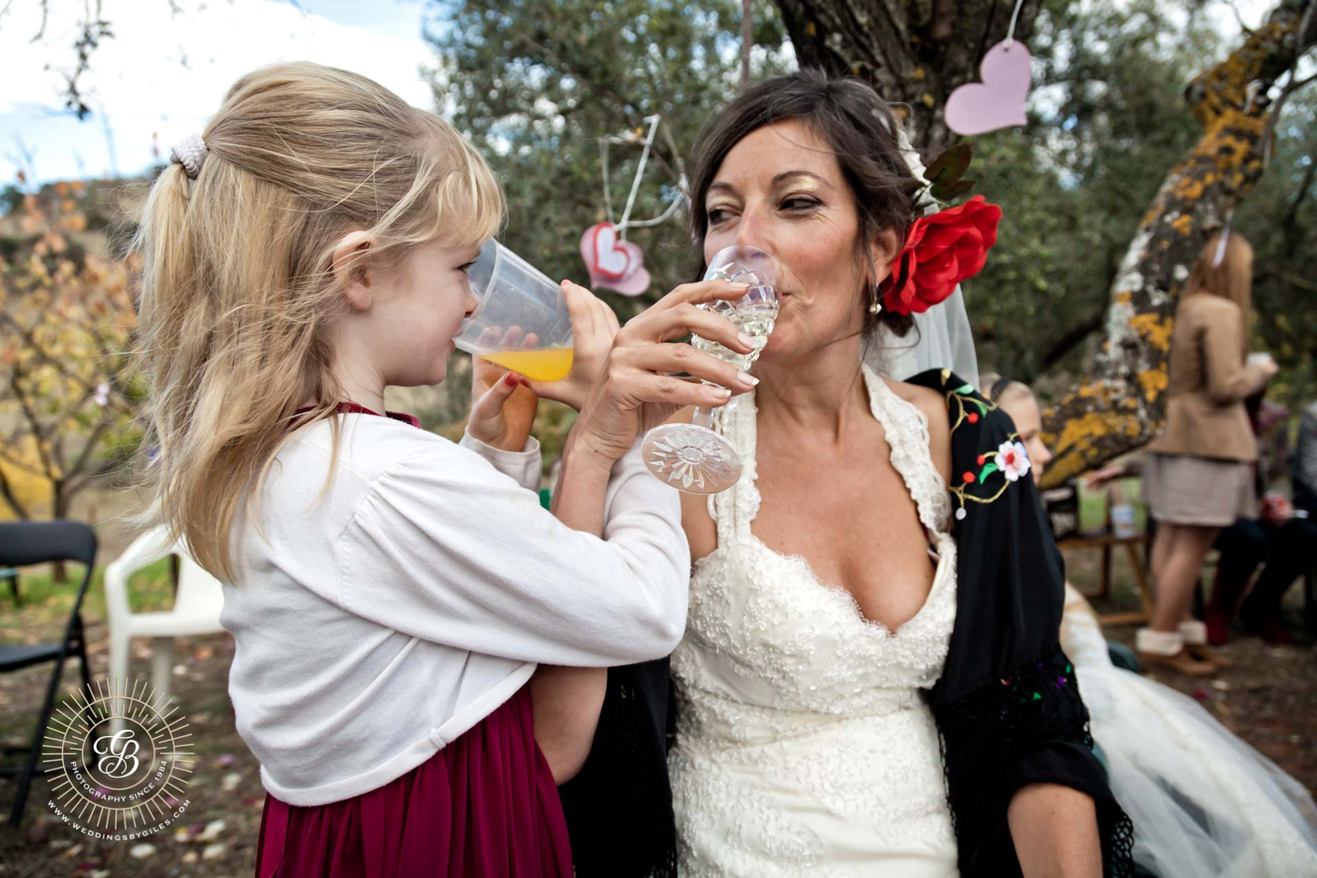 drink with the bride