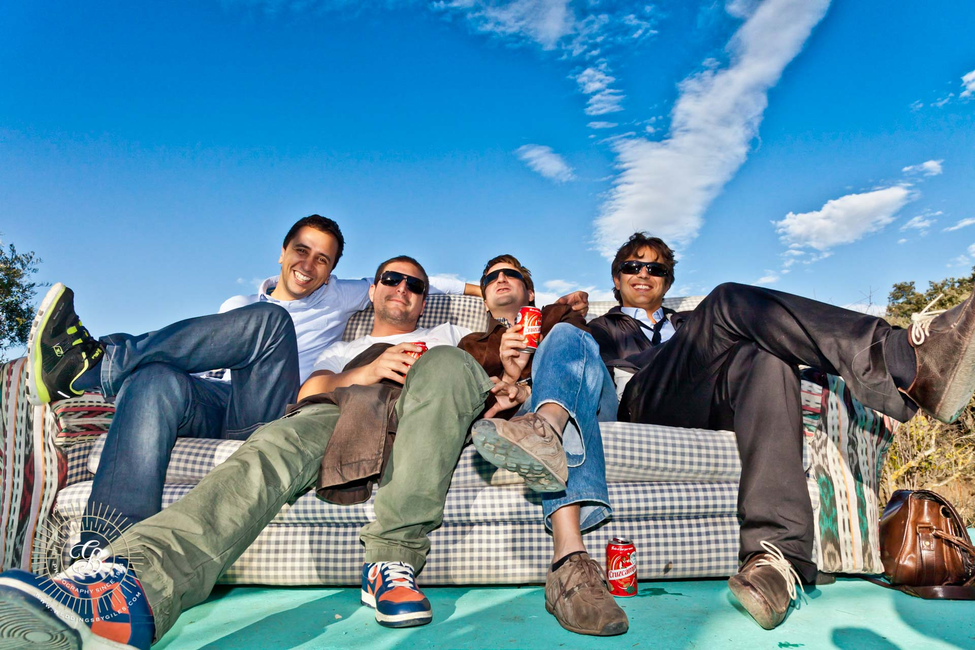 the guys on the sofa