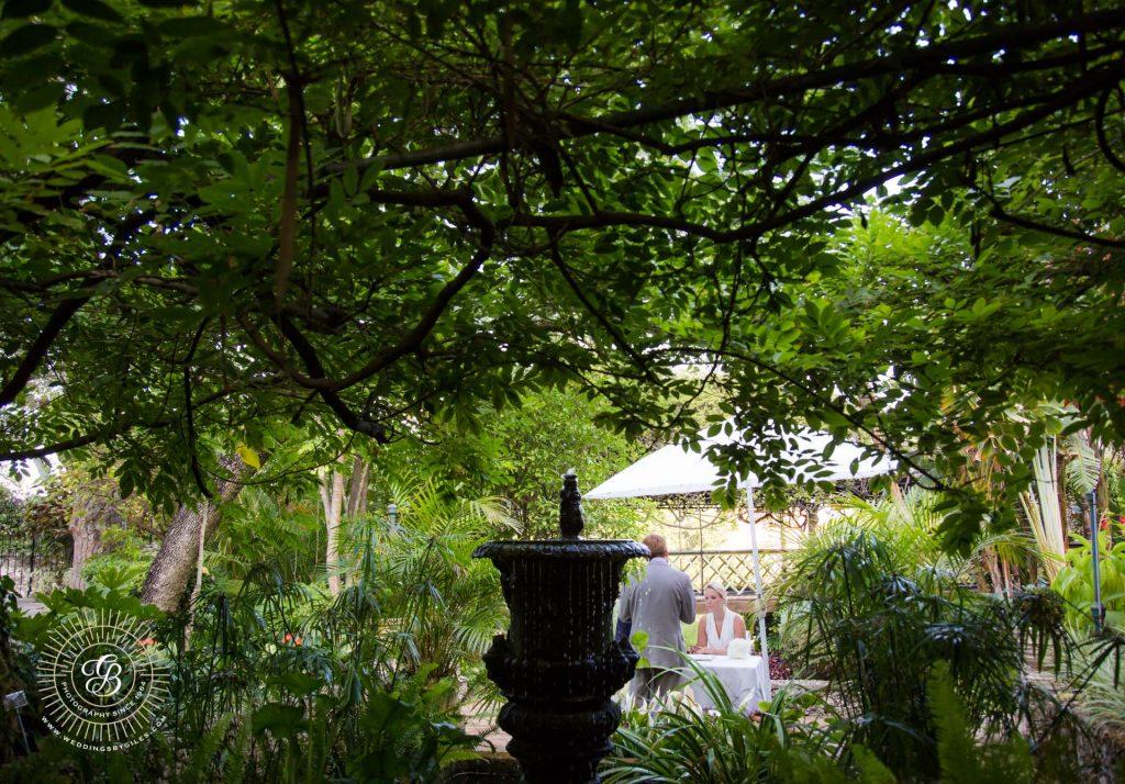 Civil Ceremony in the alameda gardens