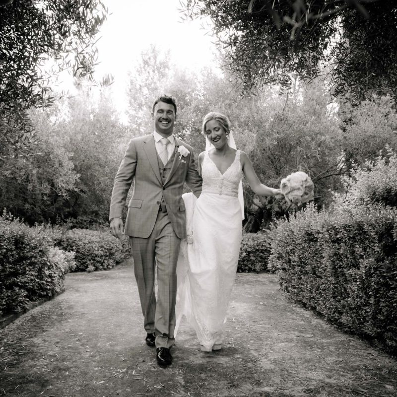 Black & White wedding portrait