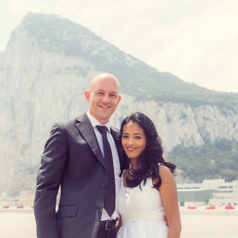 Gibraltar wedding photo